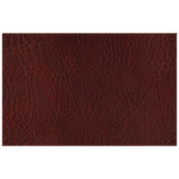 H. Risch, Inc. 11 inch x 17 inch Wine Hardboard / Faux Leather Rectangle Placemat