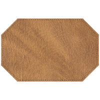 H. Risch, Inc. 11 inch x 17 inch Nugget Hardboard / Faux Leather Octagon Placemat