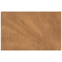 H. Risch, Inc. 11 inch x 17 inch Nugget Hardboard / Faux Leather Rectangle Placemat