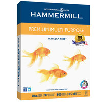 Hammermill 105910 8 1/2 inch x 11 inch White Case of 20# Premium Multipurpose Copy Paper - 2500/Sheets