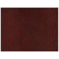 H. Risch, Inc. 13 inch x 17 inch Customizable Wine Hardboard / Faux Leather Rectangle Placemat