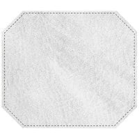 H. Risch, Inc. 13 inch x 15 inch White Hardboard / Faux Leather Octagon Placemat