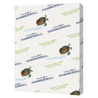 Hammermill 103366CT 8 1/2 inch x 11 inch Green Case of 20# Recycled Colored Copy Paper - 5000/Sheets
