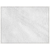 H. Risch, Inc. 13 inch x 17 inch Customizable White Hardboard / Faux Leather Rectangle Placemat