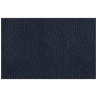 H. Risch, Inc. 11 inch x 17 inch Navy Hardboard / Faux Leather Rectangle Placemat