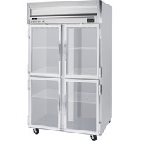 Beverage-Air HFS2-1HG 2 Section Glass Half Door Reach-In Freezer - 49 cu. ft., Stainless Steel Front, Gray Exterior, Stainless Steel Interior