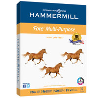 Hammermill 103267 Fore 8 1/2 inch x 11 inch White Case of 20# Multipurpose Copy Paper - 5000/Sheets