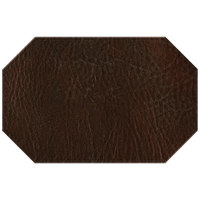 H. Risch, Inc. 11 inch x 17 inch Brown Hardboard / Faux Leather Octagon Placemat