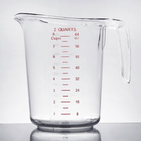 Choice 2 Qt. Clear Plastic Measuring Cup with Gradations