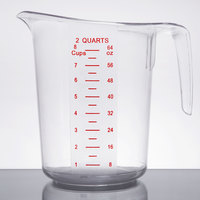 2 Qt. Clear Plastic Measuring Cup