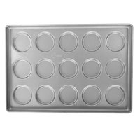 Chicago Metallic 42425 15 Mold Glazed Customizable Individual ePAN Hamburger Bun / Muffin Top / Cookie Pan