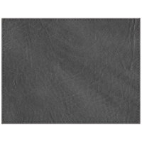 H. Risch, Inc. 13 inch x 17 inch Customizable Charcoal Hardboard / Faux Leather Rectangle Placemat