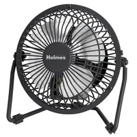 Holmes HNF0410ABM Black 1-Speed Mini High Velocity Personal Fan