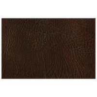 H. Risch, Inc. 11 inch x 17 inch Brown Hardboard / Faux Leather Rectangle Placemat