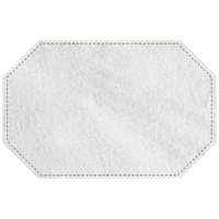 H. Risch, Inc. 11 inch x 17 inch White Hardboard / Faux Leather Octagon Placemat