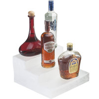 Cal-Mil 1491-67 Classic Crystal Ice Acrylic Bottle Display - 12 inch x 13 inch x 6 3/4 inch