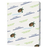 Hammermill 103341CT 8 1/2 inch x 11 inch Canary Case of 20# Recycled Colored Copy Paper - 5000/Sheets