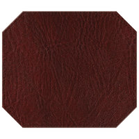 H. Risch, Inc. TABLEMATOCT15X13WINE 15 inch x 13 inch Customizable Wine Hardboard / Faux Leather Octagon Placemat
