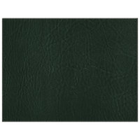 H. Risch, Inc. 13 inch x 17 inch Customizable Green Hardboard / Faux Leather Rectangle Placemat