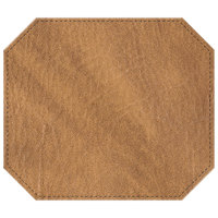 H. Risch, Inc. 13 inch x 15 inch Nugget Hardboard / Faux Leather Octagon Placemat