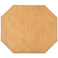 H. Risch, Inc. 13 inch x 15 inch Customizable Nugget Hardboard / Faux Leather Octagon Placemat