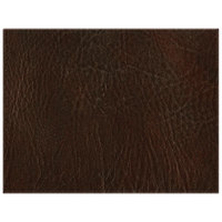 H. Risch, Inc. 13 inch x 17 inch Customizable Brown Hardboard / Faux Leather Rectangle Placemat
