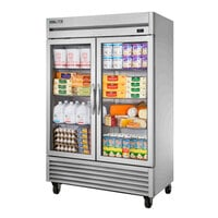 True TS-49G-HC~FGD01 55 inch Glass Door Reach-In Refrigerator with LED Lighting
