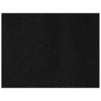 H. Risch, Inc. 13 inch x 17 inch Black Hardboard / Faux Leather Rectangle Placemat