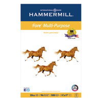Hammermill 103192 Fore 11 inch x 17 inch White Ream of 20# Multipurpose Copy Paper - 500/Sheets