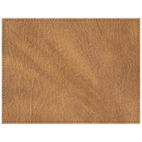 H. Risch, Inc. 13 inch x 17 inch Customizable Nugget Hardboard / Faux Leather Rectangle Placemat