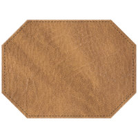 H. Risch, Inc. 11 inch x 15 inch Nugget Hardboard / Faux Leather Octagon Placemat