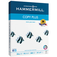 Hammermill 105031 Copy Plus 8 1/2 inch x 11 inch White Ream of 3-Hole Punch 20# Copy Paper - 500/Sheets