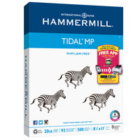 Hammermill 162024 Tidal 8 1/2 inch x 11 inch White Case of 3-Hole Punch 20# Multipurpose Copy Paper   - 5000/Sheets