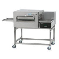 Lincoln 1180-1G Impinger II 1100 Series Express Natural Gas Single Conveyor Radiant Oven Package with 28 inch Long Baking Chamber - 40,000 BTU
