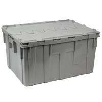 Bon Chef 812001P 28 inch x 21 inch x 15 inch Gray Reinforced Plastic Chafer Box with Locking Lid