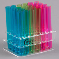 Choice Test Tube / Shooter Rack with 100 Assorted Neon Test Tube Shots / Shooters