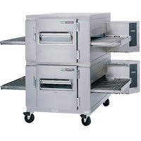 Lincoln 1400-2G Impinger I 1400 Series Liquid Propane Double Conveyor Radiant Oven Package with 40 inch Long Baking Chamber - 240,000 BTU