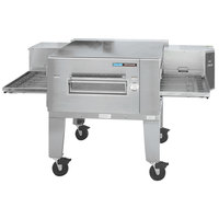 Lincoln 1600-1G Impinger 1600 Series Natural Gas Single Conveyor Radiant Oven Package with 40 inch Long Baking Chamber - 120,000 BTU