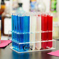 Choice Test Tube / Shooter Rack with 100 Clear Test Tube Shots / Shooters