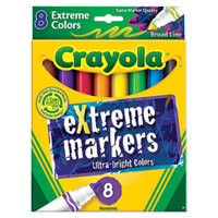 Crayola 588175 Assorted 8-Count Extreme Color Markers