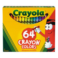 Crayola 52064D Classic Assorted 64 Color Crayon Box with Sharpener