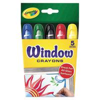 Crayola 529765 Assorted 5 Color Washable Window Crayon Box