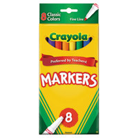 Crayola 587709 Assorted 8 Color Fine Point Non-Washable Marker Set