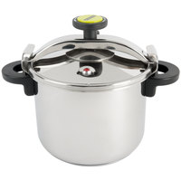 Matfer Bourgeat 013204 Monix 34 Cup (17 Cup Raw) 8.5 qt. (8 Liter) Stainless Steel Pressure Cooker with Steamer Basket