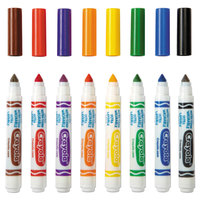 Crayola 587808 Ultra-Clean Assorted 8-Count Broad Point Washable Markers