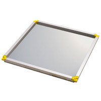 Matfer Bourgeat 370112 15 3/4 inch x 11 7/8 inch Yellow Mousse Frame - 3/8 inch
