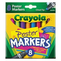 Crayola 588173 Assorted 8-Count Washable Poster Markers