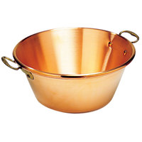 Matfer Bourgeat 304042 16.75 Qt. Extra Heavy Copper Jam Pan with Bronze Handles