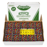 Crayola 528019 Classpack Assorted 64 Color Regular Size Crayon Pack with 13 Caddies - 832/Box