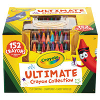 Crayola 520030 Ultimate Assorted 152 Color Crayon Box with Sharpener Caddy